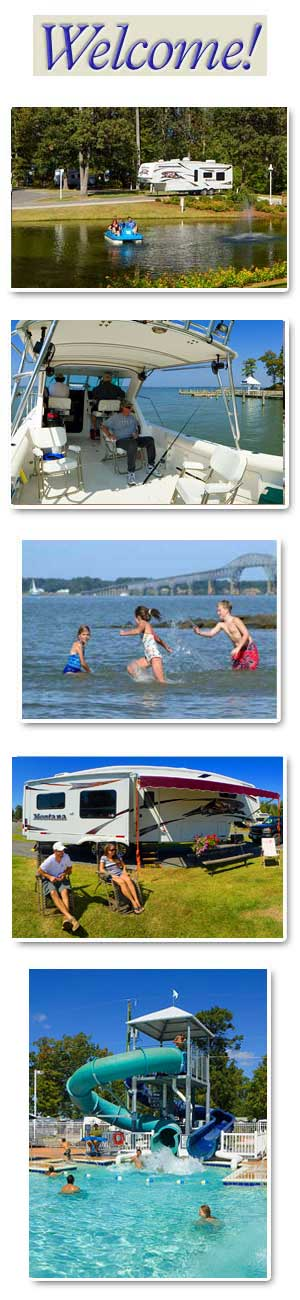 Water Park Super RV Sites Relaxing by the Chesapeake
