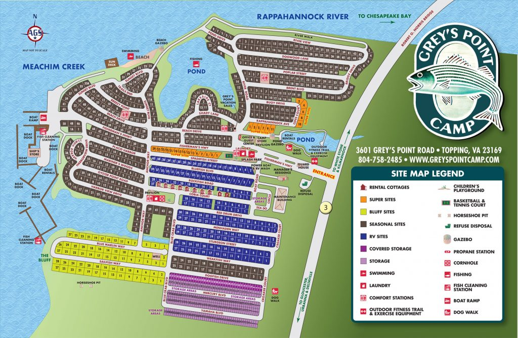 Resort Map Grey S Point Camp